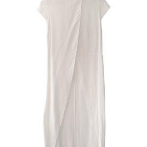 Blusón blanco cruzado enfrente marca Zara