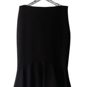 Falda corte sirena color negro con cierre al costado marca Zara Woman