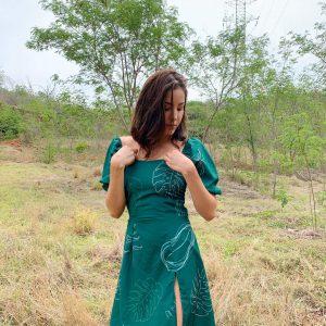 Vestido ORNAMENTAL (color verde)