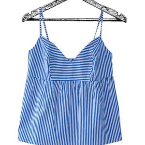 blusa de tiras rayas azules escote en v caucho en espalda