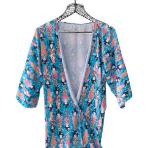 Kimono estampado Geishas
